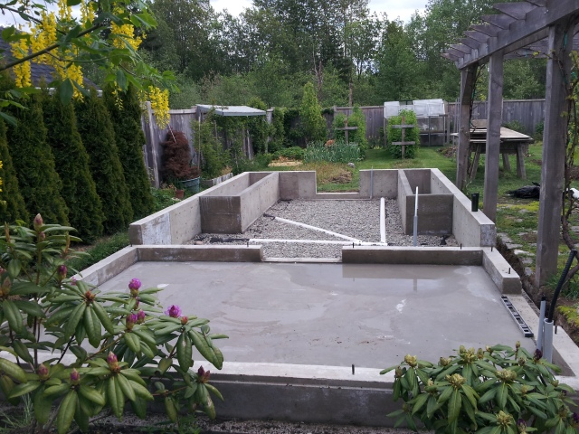 Greenhouse foundations
