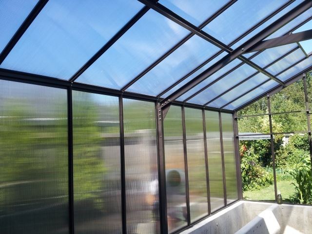 putting panels in greenhouse